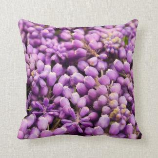 Purple Grape Hyacinth Spring Flower Throw Pillow