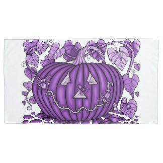Purple Grape Spidery Pumpkin Pillowcase