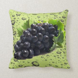 purple grape throw pillow
