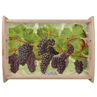Purple Grapes Large Serve-Tray (You can customize) Serving Tray