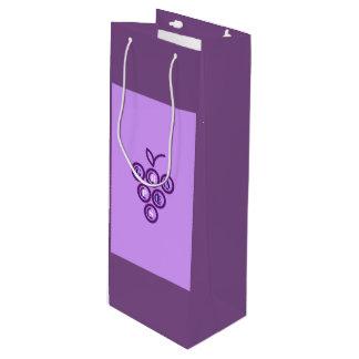 Purple grapes wine gift bag