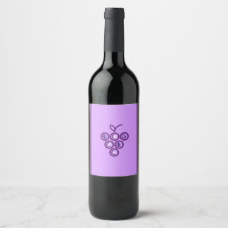 Purple grapes wine label