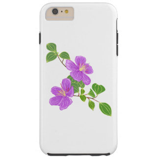 Purple Grass Flowers Tough iPhone 6 Plus Case