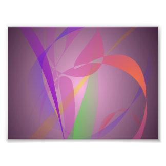 Purple Gray Gentle Abstract Design Photographic Print