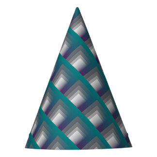 purple gray teal party hat
