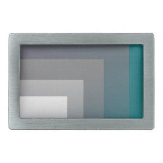 purple gray teal rectangular belt buckle