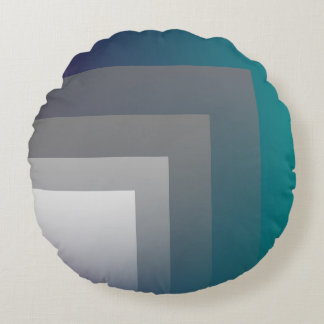 purple gray teal round pillow