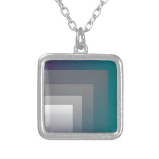purple gray teal silver plated necklace