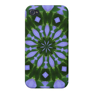Purple/Green Abstract Design Covers For iPhone 4