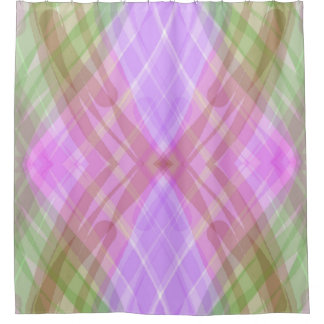Purple Green Abstract Geometric Pattern