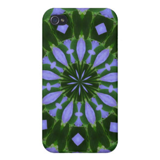 Purple/Green Abstract iPhone 4 Covers
