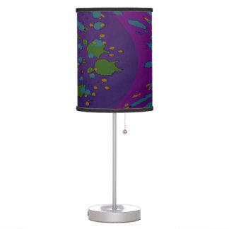 Purple Green Abstract Pop Art Table Lamp