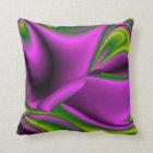 purple green abstract Rainbow-Art Throw Pillow
