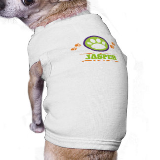 Purple, Green, and Orange Pet Paw Prints Shirt