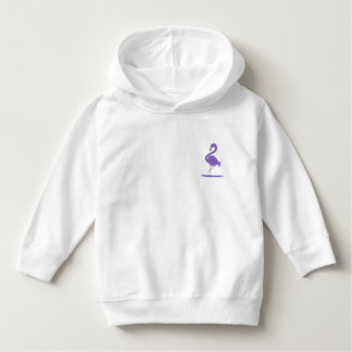 Purple, Green, and Teal Flamingos with Flair Hoodie
