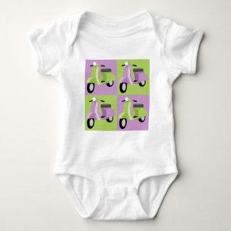 Purple & Green  Baby Bodysuit