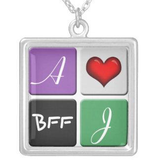 Purple Green BFF Friendship Necklace