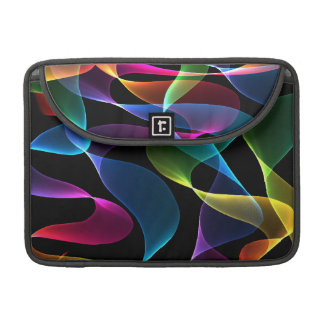 Purple green blue and pink  abstract colors sleeve for MacBooks