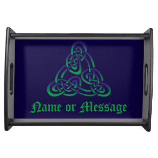 Purple Green Celtic Trinity Knot Serving Tray