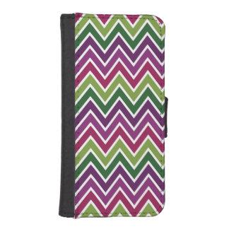 Purple & Green Chevron Stripe iPhone 5 Wallet