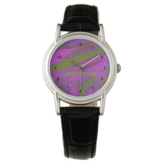 Purple Green Color Swish Watch