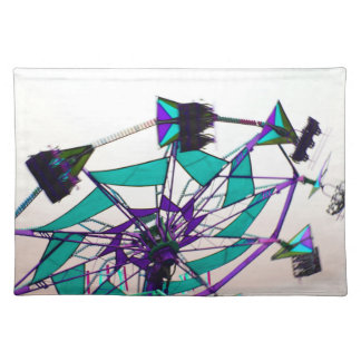 purple green fair ride flying midway placemats