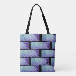Purple & Green Feather  Blessing Tote