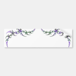 Purple & Green Fractal Border Bumper Sticker