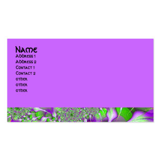 purple green fractal Double-Sided standard business cards (Pack of 100)