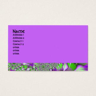 purple green fractal business card