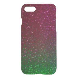 Purple Green Glitter Sparkle iPhone 7 Case