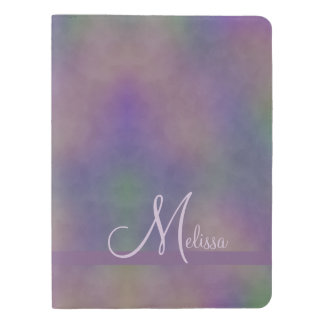 Purple Green Gold Name Abstract Extra Large Moleskine Notebook