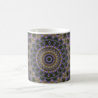 Purple & green lace fractal design coffee mug