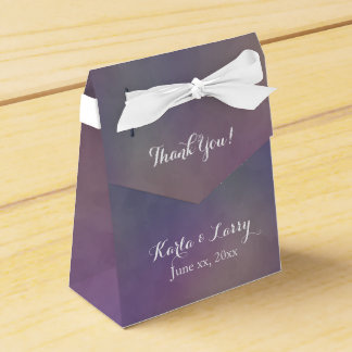 Purple Green Magenta Abstract Thank you Favor Box