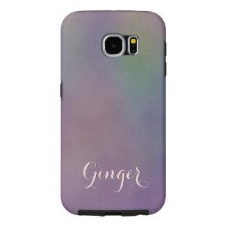Purple Green Magenta Yellow Abstract Samsung Galaxy S6 Case