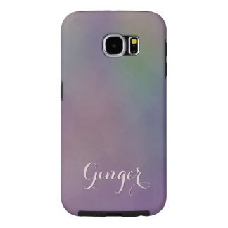 Purple Green Magenta Yellow Abstract Samsung Galaxy S6 Cases