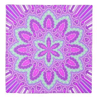 Purple Green Mandala Design Duvet Cover