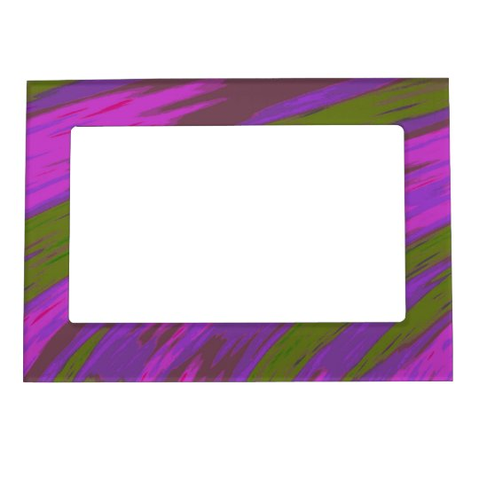 Purple Green Modern Colourful Abstract Magnetic Frame