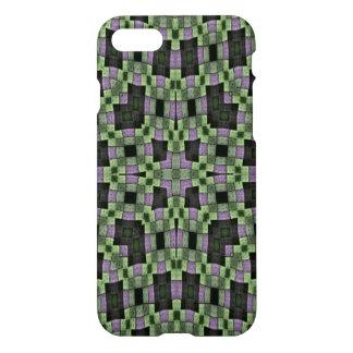 purple green multicolored square pattern iPhone 8/7 case
