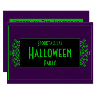 Purple & Green Neon Card