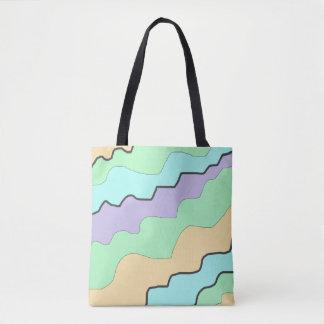 Purple Green Orange Blue Modern Abstract Design Tote Bag
