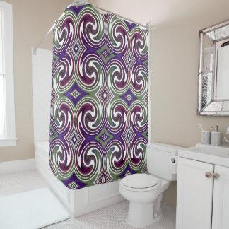 Purple Green White Abstract Swirl Pattern