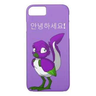 Purple/Green/White Reptilian Bird Korean Hello Case-Mate iPhone Case