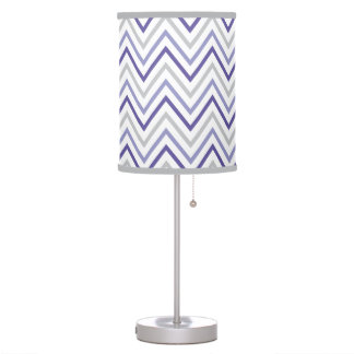 Purple Grey Chevron Zigzag Pattern Table Lamp