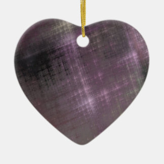 Purple Grunge Ceramic Ornament