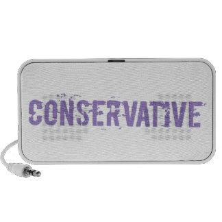 Purple Grunge Conservative iPhone Speakers