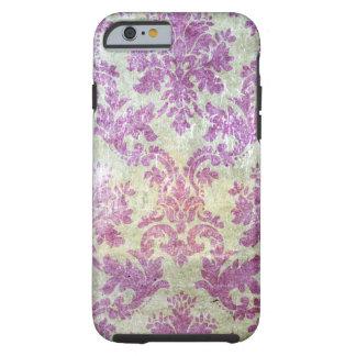 Purple Grunge Damask Tough iPhone 6 Case