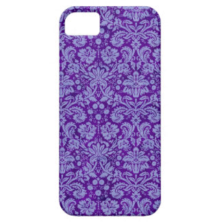 Purple Grunge Damask iPhone 5 Case