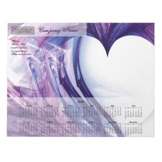 Purple Grunge Heart 2018 Notepad