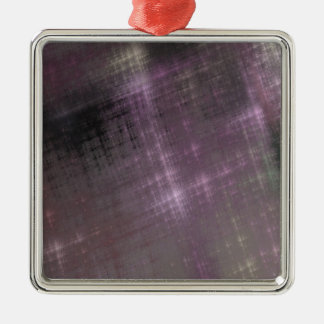 Purple Grunge Metal Ornament